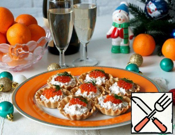 Tartlets with Tuna, Cucumbers and Caviar Recipe