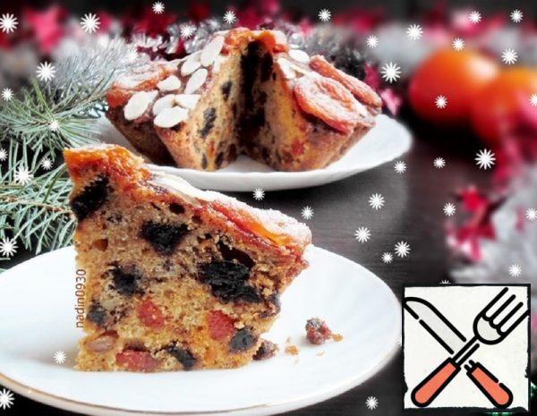 Cake with Dried Apricots and Dates Recipe