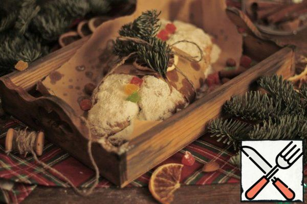 Our Stollen is ready! Have a nice new year's tea party!