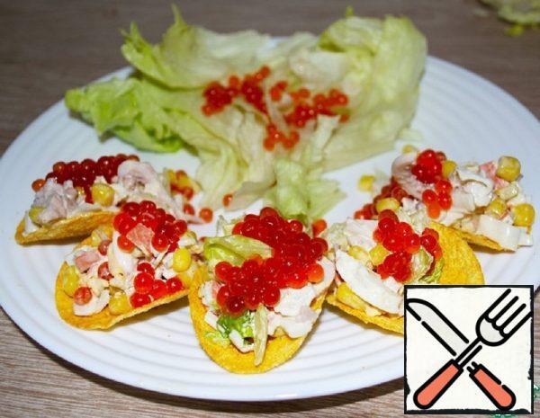 Snacks of Crab Sticks and Squid Recipe