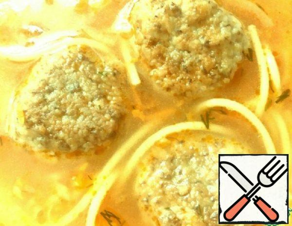 Soup with Lentil Meatballs Recipe