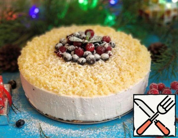 """Cottage Cheese Cake without Baking """"Snow- Covered Berries"""" Recipe"""