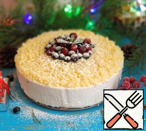 Carefully remove the cake from the mold , decorate as desired and can be served to the table.