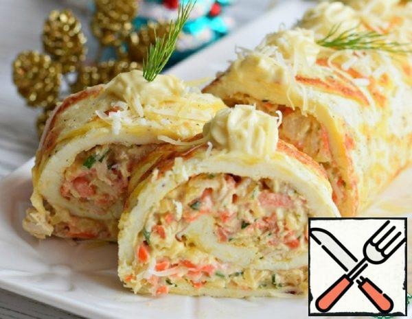 Egg Roll with Cheese and Carrots Recipe