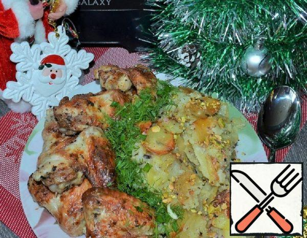 Chicken with Potatoes in Sour Cream Recipe