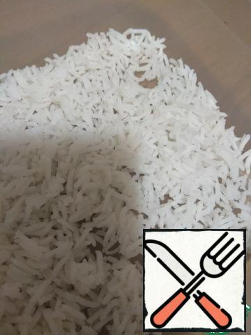 Boiled and cooled the rice.