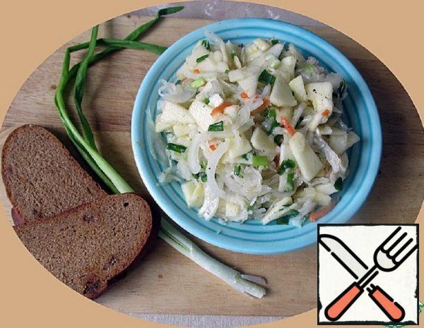 Cabbage-Apple Salad in Honey Sauce Recipe