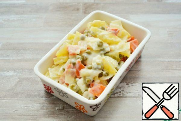 These vegetables can be a great side dish for a steam cutlet, boiled meat, chicken or fish. Or be a separate dish for lunch or dinner.