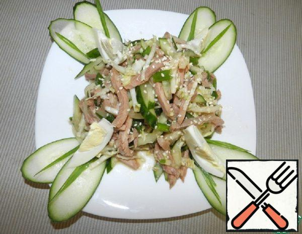 Vegetable Salad with Meat Recipe