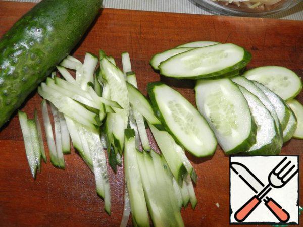 Cut the cucumbers.