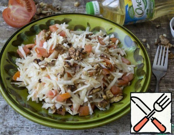 Cabbage Salad with Walnuts Recipe