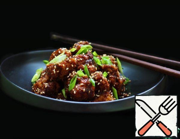 Cauliflower in sticky Chinese Sauce Recipe