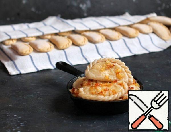 Dumplings with Potatoes on Custard Dough Recipe