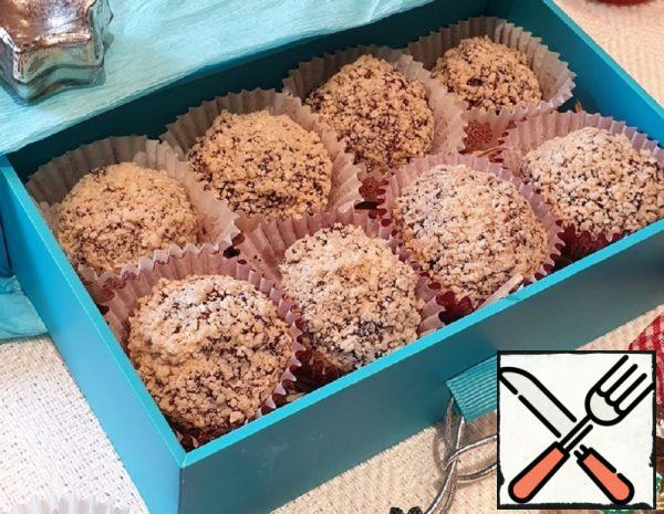 Chocolate Candies in Waffle Crumbs Recipe