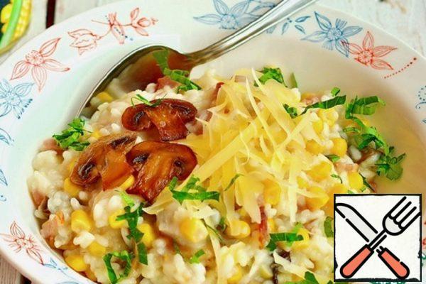 Risotto with Brisket, Mushrooms and Corn Recipe
