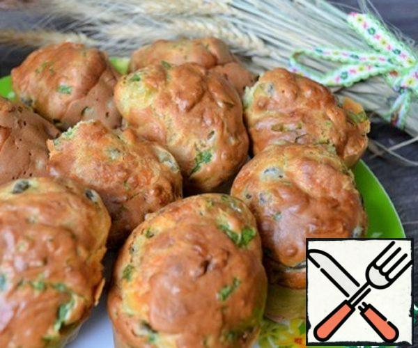 Cupcakes with Peas and Spinach Recipe