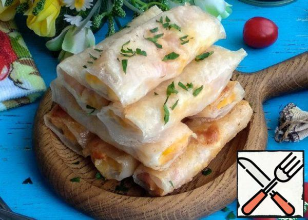 Snacks with Ham, Cheese and Corn Recipe
