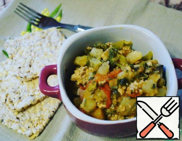 Vegetable Stew with Minced Chicken Recipe