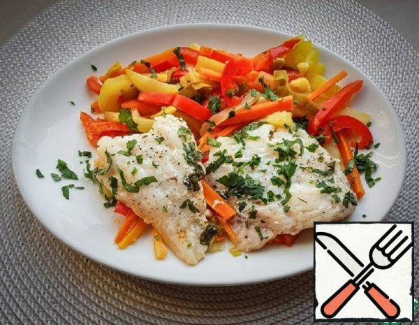 Steamed Cod Fillet with Vegetables Recipe