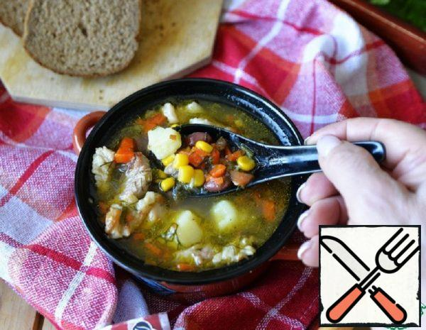 Thick Soup with Beans and Corn Recipe