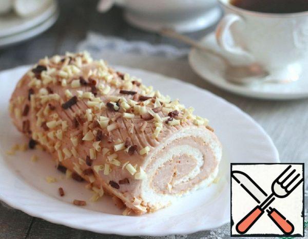 Meringue Roll with Sour Cream Recipe