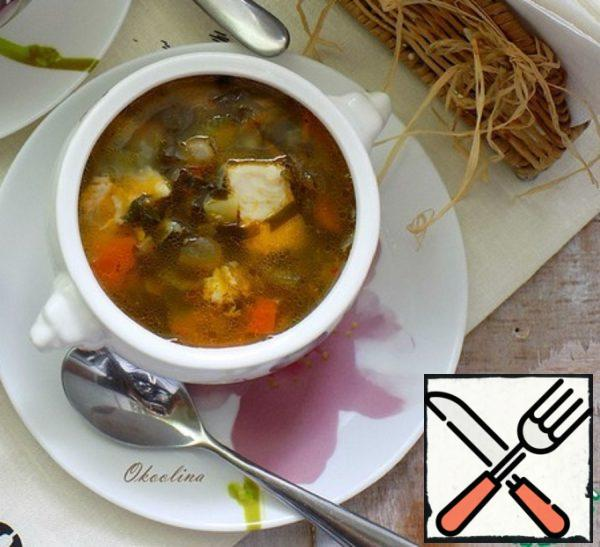 Soup with Seaweed and Beans Recipe