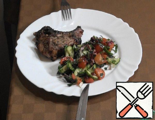"""Pork Loin in Greek """"Brizoles"""" Recipe"""