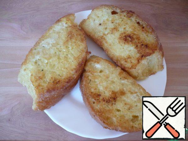 Toast the bread.
