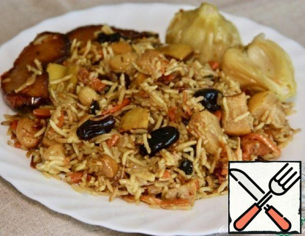 Lean Pilaf with Quince and Dried Fruits Recipe