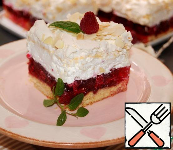 Decorate the cake with raspberries and a sprig of mint. Mmmm ... it's delicious! Indeed-a CLOUD!