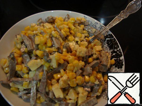 Light Salad with Liver Recipe