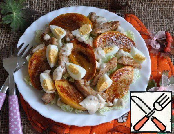 Salad with Persimmon and Chicken Recipe