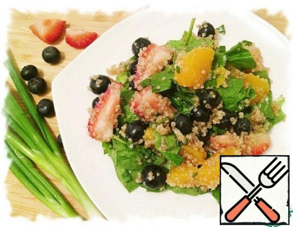 Berry-Tangerine salad with Quinoa Recipe