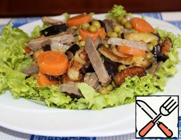 "Salad ""Vegetable Mackerel"" Recipe"