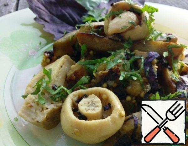 Eggplant Salad with Mushrooms Recipe