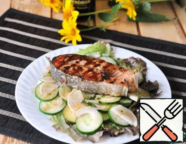 Grilled Salmon Salad with Thai Marinade Recipe