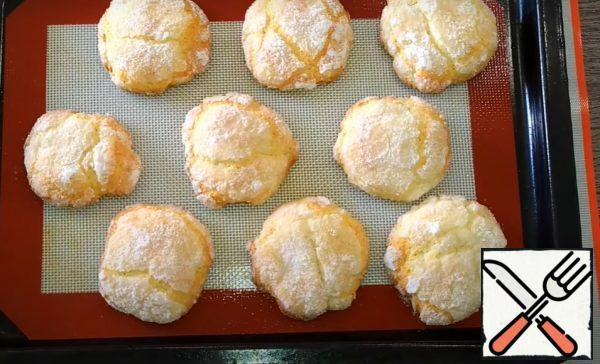Tender, flavorful lemon curd cookies are ready!