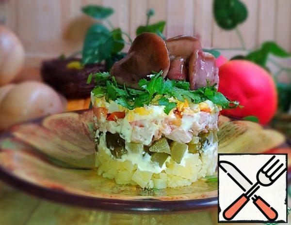 """Salad """"Mushroom fantasy"""" Recipe"""
