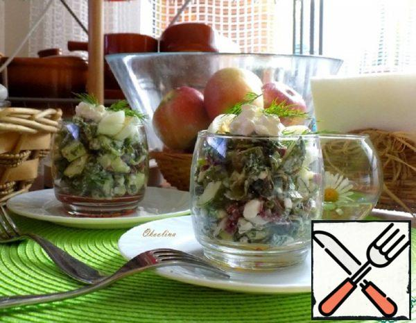 Salad with Chard and Grainy Cottage Cheese Recipe
