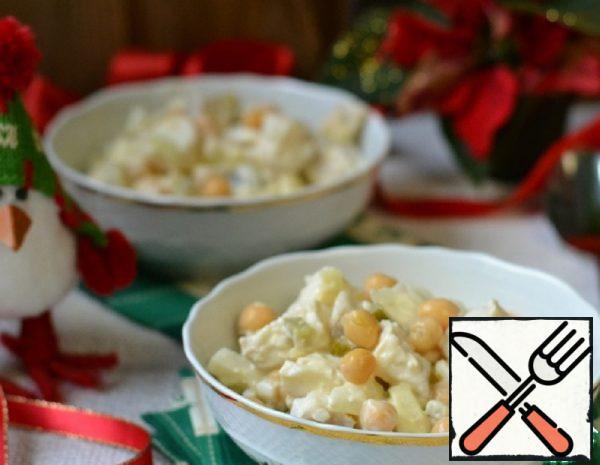 "Salad ""Cod in Mayonnaise"" Recipe"