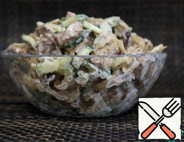 Chicken Liver and Cucumber Salad Recipe