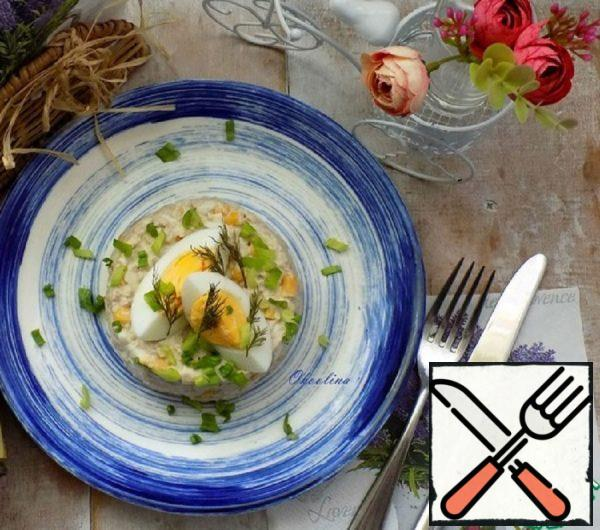 Salad with Corn and Cod Liver Recipe