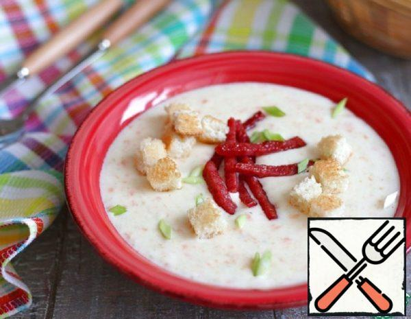 Cheese Soup-Puree on Meat Broth Recipe