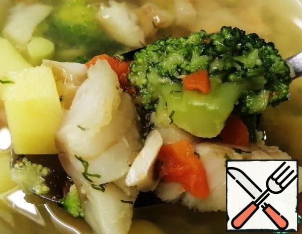 Fish Soup with Broccoli Recipe
