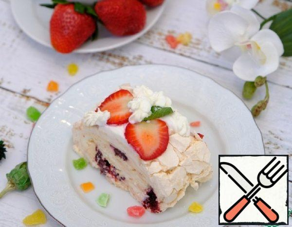 Meringue Roll with Berry Confit Recipe