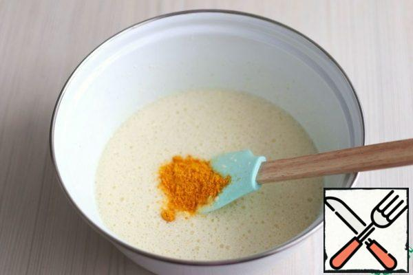 Then add the tangerine zest (1 tablespoon). Mix well.