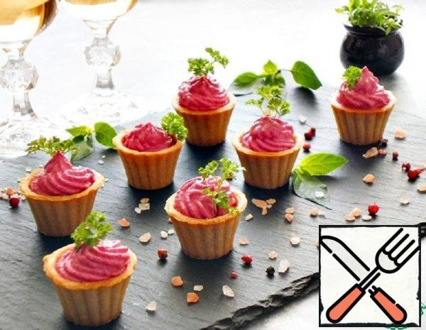 Tartlets with Cream Cheese and Beetroot Recipe