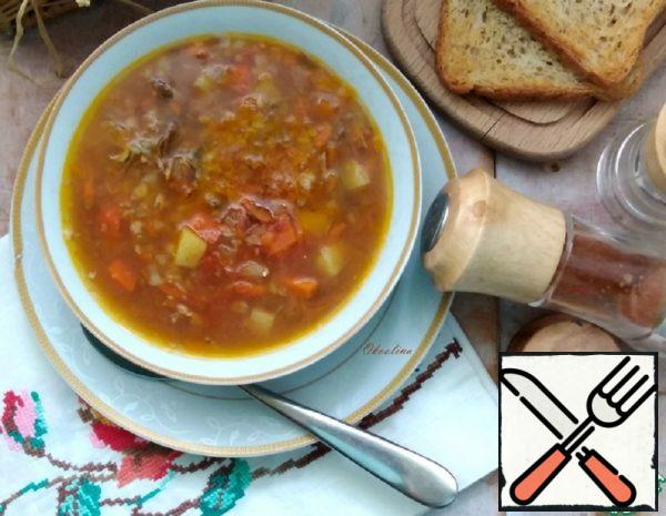 Soup with Buckwheat and Sprat Recipe