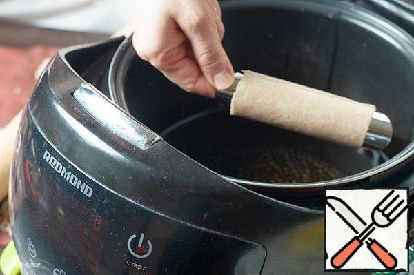 Put the tubes in the hot oil.