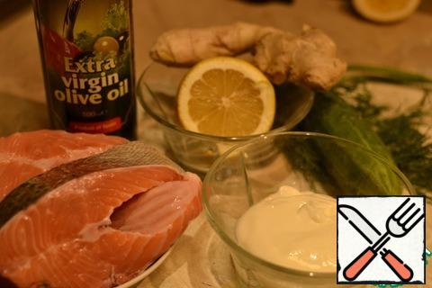 Products that we will need for cooking fish.